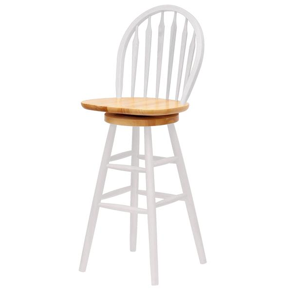 Winsome Wood Wagner White Wood Bar Stool 18-in x 29.05-in