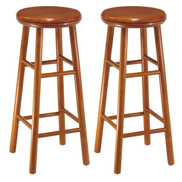 Winsome Wood Oakley Bar Stools 13.5-in x 30.94-in Wood  Set of 2