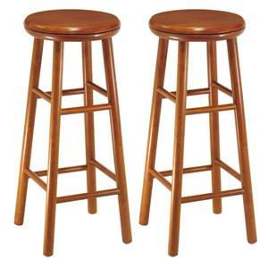 """Tabourets de bar Oakley, 13,5"""" x 30,94"""", bois, ens. de 2"""