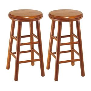 Winsome Wood Oakley Cherry Bar Stools 12.8-in x 25.28-in (Set of 2)
