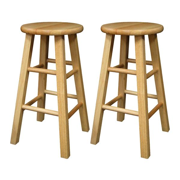 Winsome Wood Pacey Bar Stools 13.4-in x 24.2-in (Set of 2)