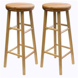 Winsome Wood Oakley Beech Wood Bar Stools 13.5-in x 30.94-in (Set of 2)