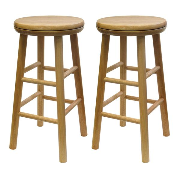 Winsome Wood Oakley Wood Bar Stools 12.8-in x 25.28-in (Set of 2)