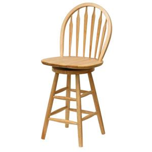 Winsome Wood Wagner Beech Wood Bar Stool 18-in x 23.85-in