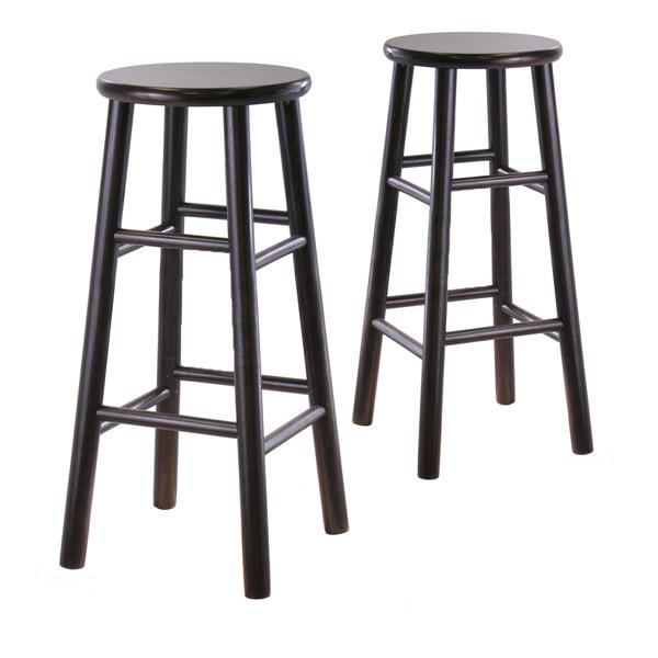 Winsome Wood Espresso Tabby Bar Stools 13.5-in x 30.16-in (Set of 2)