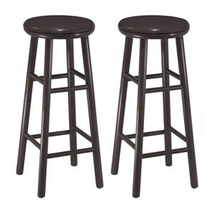Winsome Wood Oakley Espresso Bar Stools 13.5-in x 30.94-in (Set of 2)