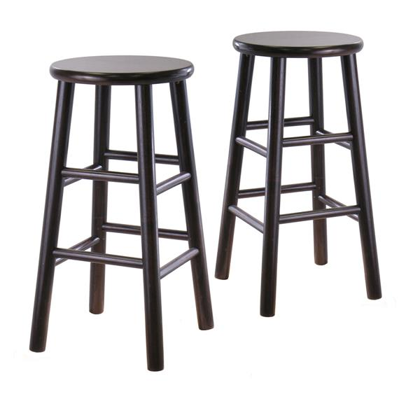 Winsome Wood Wood Tabby Bar Stools 13-in x 24.49-in (Set of 2)