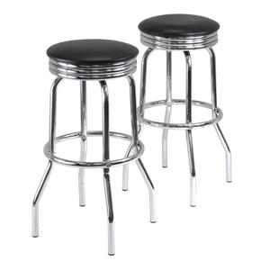 Winsome Wood Summit Metal Bar Stools 19.69-in x 29.13-in (Set of 2)