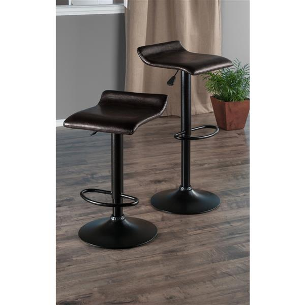 Winsome Wood Pairs Espresso Metal Air Lifts 15.16-in x 23.35-in