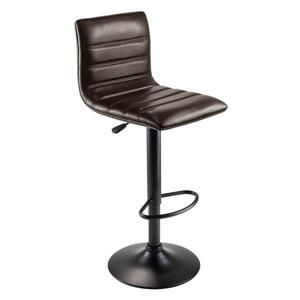 Winsome Wood Holly 15.75-in x 23.82-in Metal Espresso Barstool