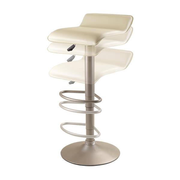 Winsome Wood Spectrum Air Lift Beige Metal 15.1-in x 22.72-in Bar Stool