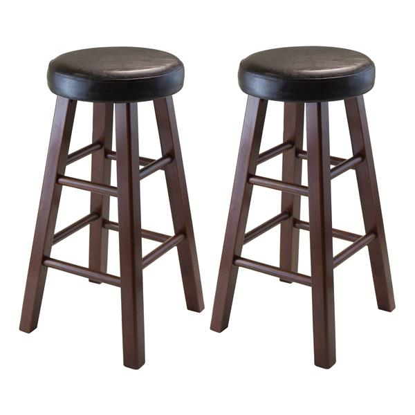 Winsome Wood Marta 12.39-in x 25.4-in Wood Counter Stools (Set of 2)