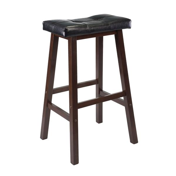 Winsome Wood Mona 17.93-in x 29.69-in Wood Walnut Barstool