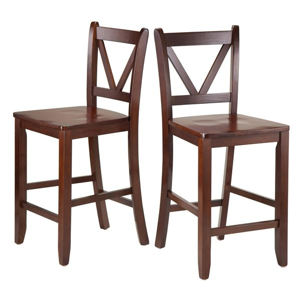 Winsome Wood Victor Wood Counter Stools 16.54-in x 23.98-in (Set of 2)