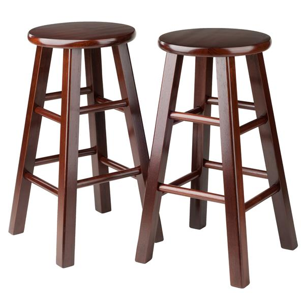 Winsome Wood Walnut Pacey Bar Stools 13.4-in x 24.2-in (Set of 2)