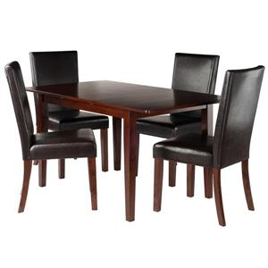 Winsome Wood Anna 5-Piece Dining Set with 4 Chairs
