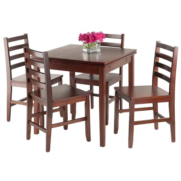 Winsome Wood Pulman 5 Piece Extension Table Dining Set