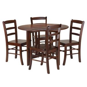Winsome Wood Alamo 5-Piece Drop Leaf Table with 4 Chairs