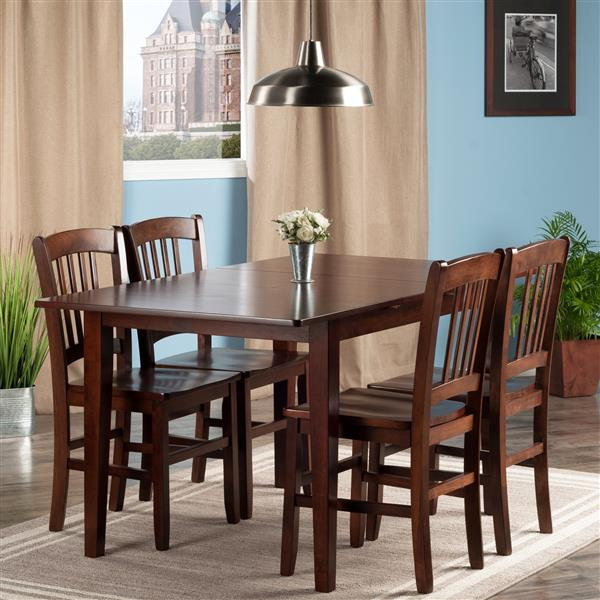 Winsome Wood Anna 5- Piece Dining Set with 4 Chairs