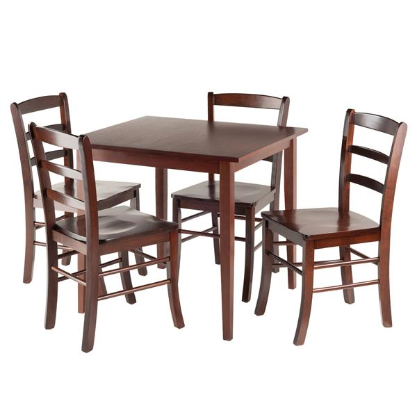 Winsome Wood Groveland 5 Piece Square Dining Table with 4 Chairs
