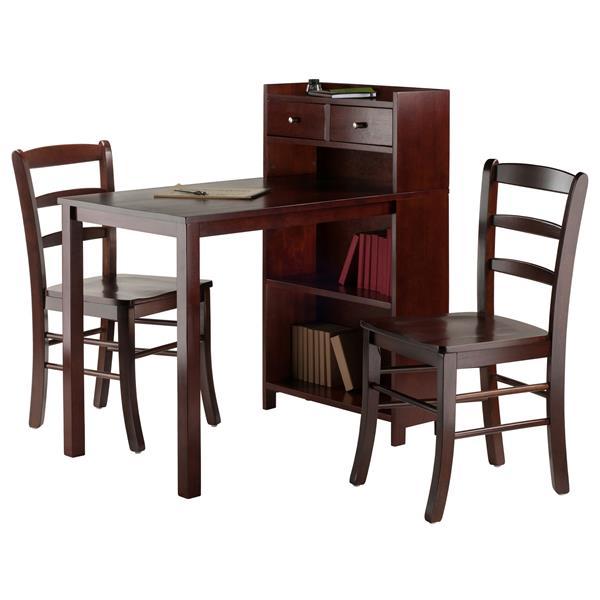 Winsome Wood Tyler Storage Shelf 3 Piece Dining Set