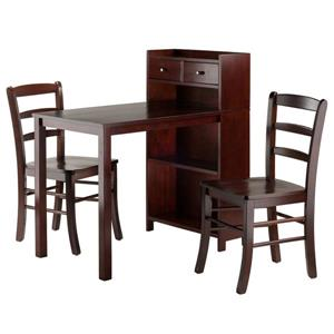 Winsome Wood Tyler Storage Shelf 3 Piece Dining Set