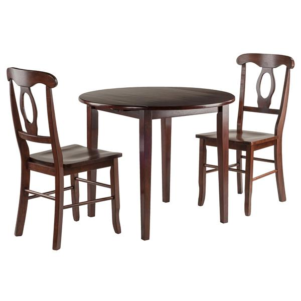 Winsome Wood Clayton 3-Piece Drop Leaf Table with 2 Chairs