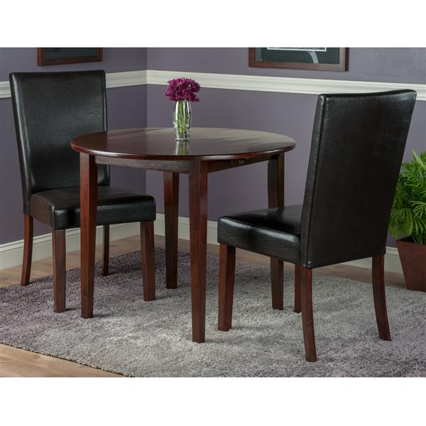 Winsome Wood Clayton 3-Piece Drop Leaf Table Set with 2 Chairs