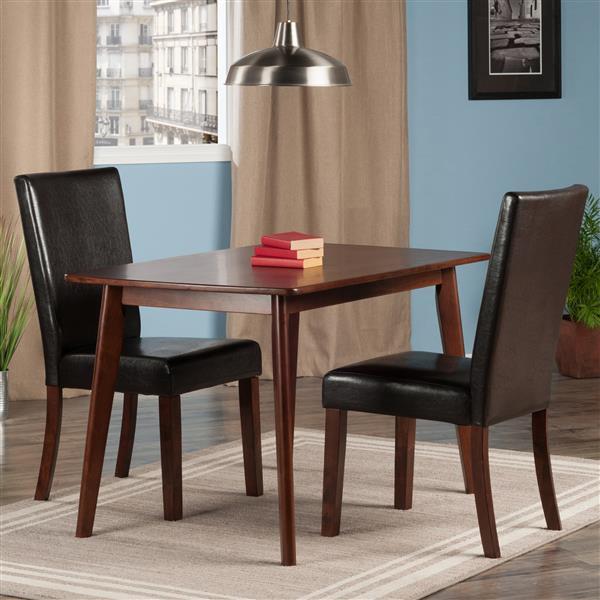 Table de salle à manger Shaye, 3 pièces, 2 chaises