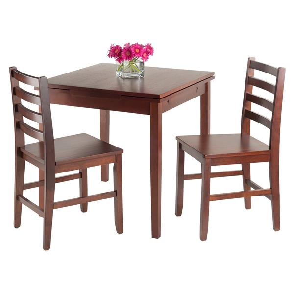 Winsome Wood Pulman 3 Piece Extension Table Dining Set