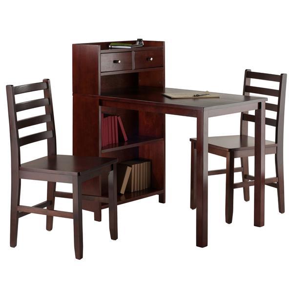 Ensemble Tyler, étagère de rangement, 3 pièces, 2 chaises