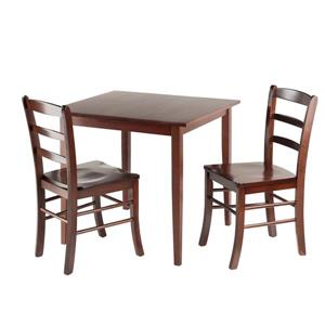 Winsome Wood Groveland 3 Piece  Square Dining set
