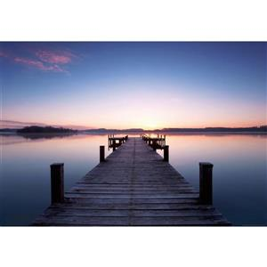 Pier At Sunrise Wall Mural - 100