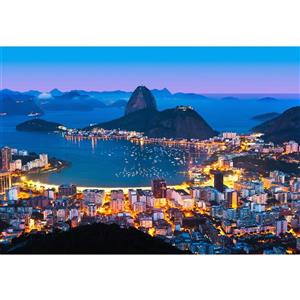 "Papier peint de Rio de Janeiro, 100"" x 144"""