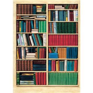 Papier peint bibliothèque, 100