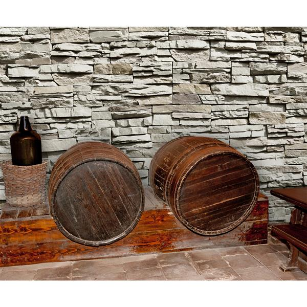 """Brewster Wallcovering The Wall Mural Stone- 100"""" x 144"""""""