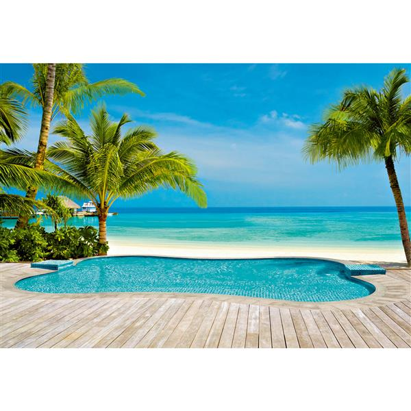 """Brewster Wallcovering Pool Wall Mural - 100"""" x 144"""""""