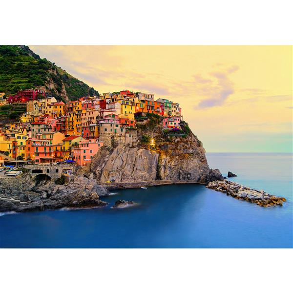 """Brewster Wallcovering Cinque Terre Coast Wall Mural - 100"""" x 144"""""""