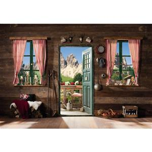 "Brewster Wallcovering Swiss Chalet Wall Mural - 100"" x 145"""