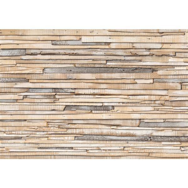 "Brewster Wallcovering Whitewashed Wood Wall Mural - 100"" x 145"""