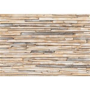 Whitewashed Wood Wall Mural - 100