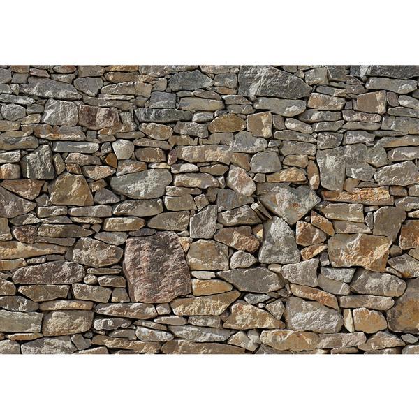 """Papier peint de pierres, 100"""" x 145"""""""