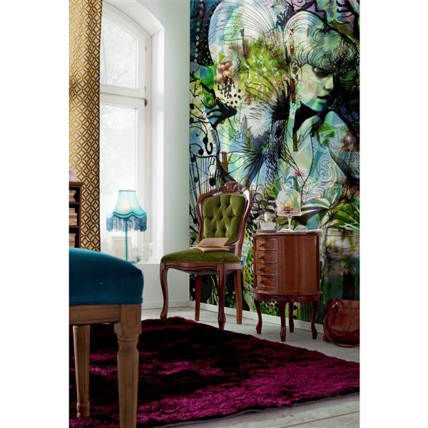 """Papier peint de jardin d'Aphrodite, 100"""" x 72"""""""