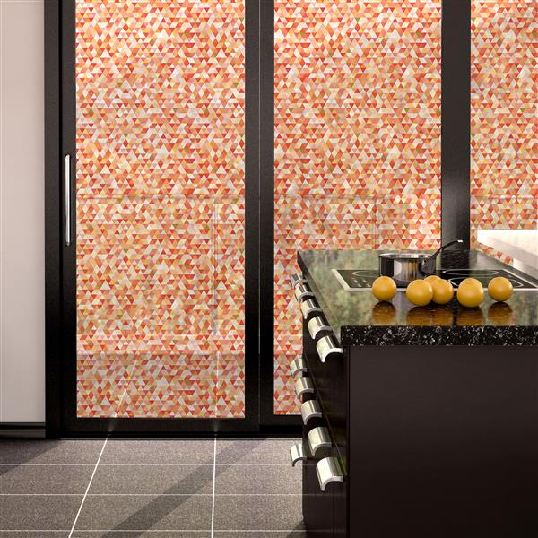 WallPops Geometric Mosaic Premium Window Film - 17.71-in x 70.86-in