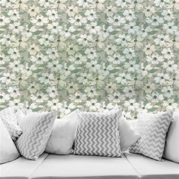 WallPops White Blossom Premium Window Film - 17.71-in x 70.86-in