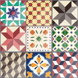 WallPops Colourful Tiles Premium Window Film - 17.71-in x 70.86-in