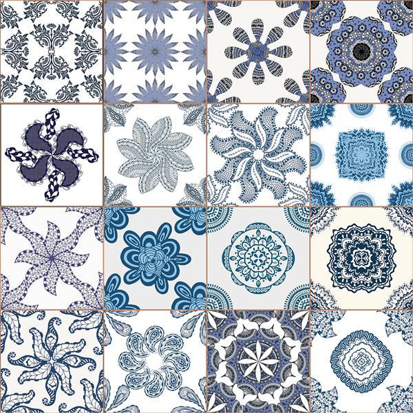 "Film de fenêtre Azulejos bleus  WallPops, 17,71"" x 70,86"""
