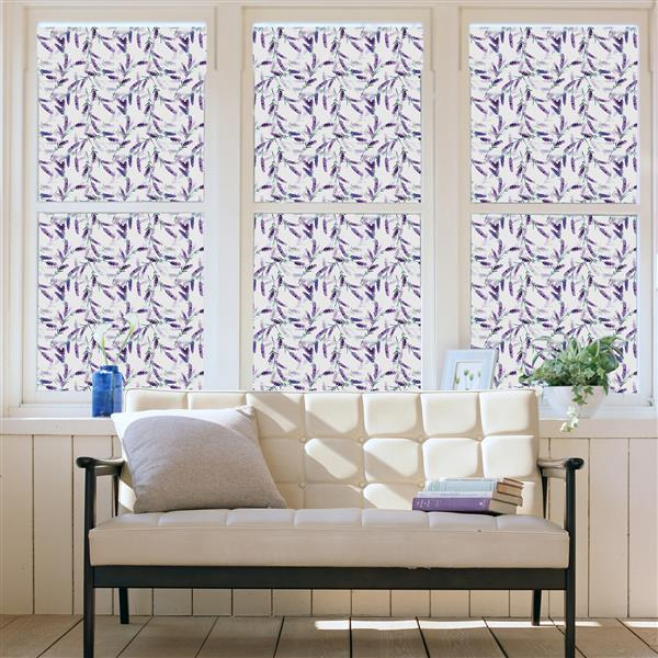 WallPops Lavander Premium Window Film - 17.71-in x 70.86-in