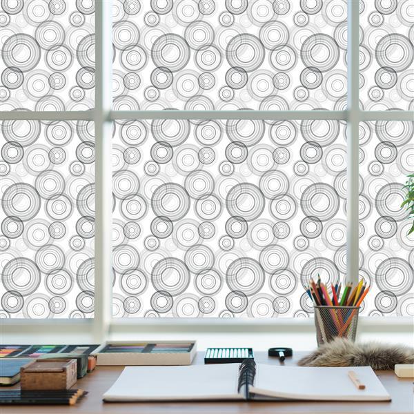 WallPops Circles Premium Window Film - 17.71-in x 70.86-in