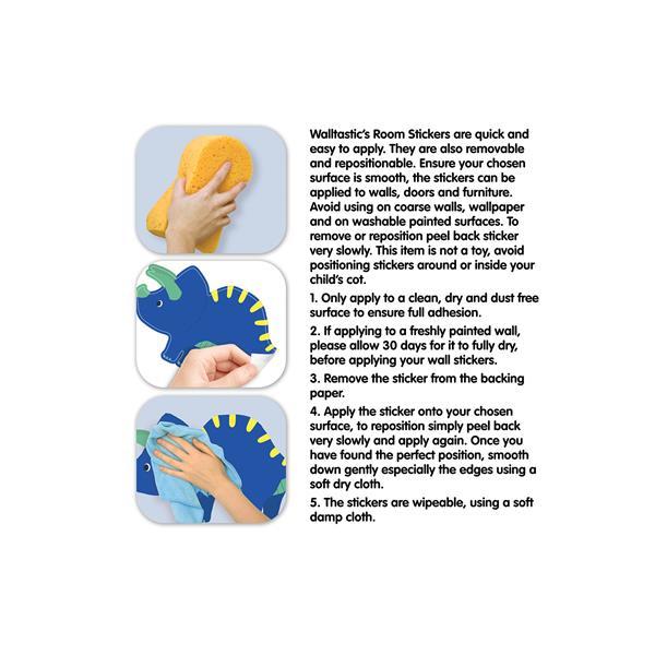 WallPops Dinosaur Wall Stickers - 18.1-in x 26.8-in